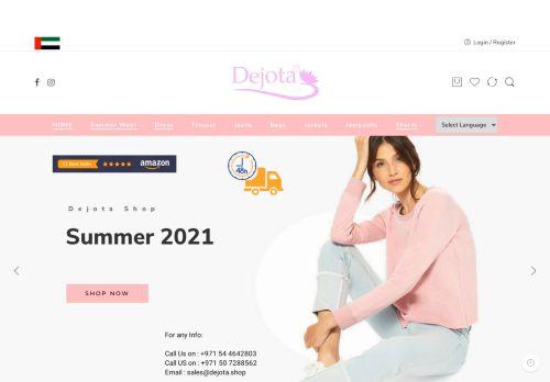 لقطة شاشة لموقع ديجوتا لتجارة الملابس الجاهزة بتاريخ 05/05/2021 بواسطة دليل مواقع الدليل السهل