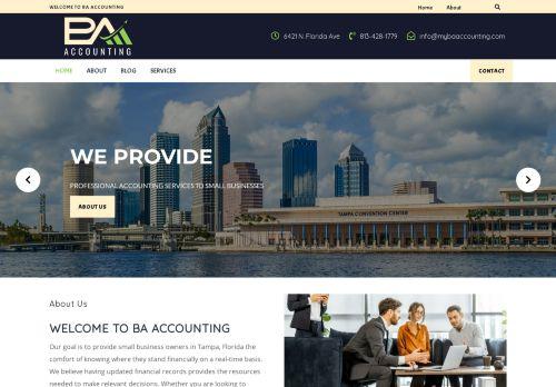 لقطة شاشة لموقع BA Accounting بتاريخ 08/05/2021 بواسطة دليل مواقع الدليل السهل