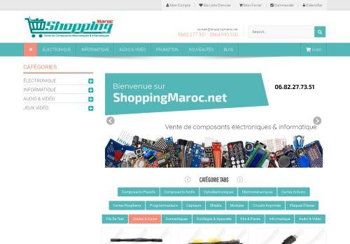 لقطة شاشة لموقع shopping maroc بتاريخ 15/06/2021 بواسطة دليل مواقع الدليل السهل