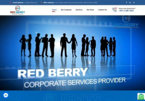 لقطة شاشة لموقع Red Berry Corporate Services بتاريخ 28/07/2021 بواسطة دليل مواقع الدليل السهل