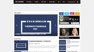 لقطة شاشة لموقع SC-COURS | COURS EXERCICE EXAMENS CORRIGES PDF بتاريخ 21/09/2019 بواسطة دليل مواقع الدليل السهل