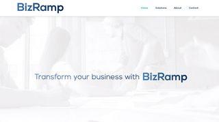 لقطة شاشة لموقع BizRamp بتاريخ 21/09/2019 بواسطة دليل مواقع الدليل السهل