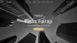 لقطة شاشة لموقع موقع المهندس المعماري فراس فرجي في تركيا بتاريخ 29/09/2019 بواسطة دليل مواقع الدليل السهل