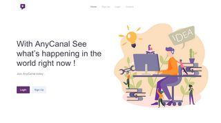 لقطة شاشة لموقع Anycanal بتاريخ 22/10/2019 بواسطة دليل مواقع الدليل السهل