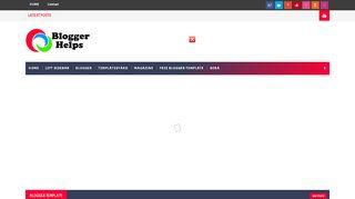 لقطة شاشة لموقع Blogger Helps بتاريخ 03/12/2019 بواسطة دليل مواقع الدليل السهل