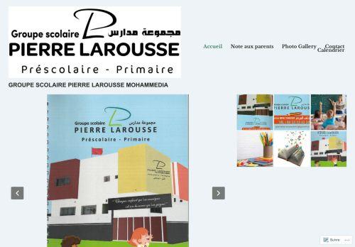 لقطة شاشة لموقع Ecole Pierre Larousse Mohammedia بتاريخ 07/10/2020 بواسطة دليل مواقع الدليل السهل