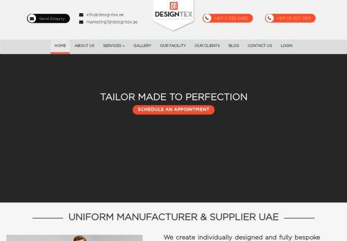 لقطة شاشة لموقع Designtex Uniforms للأزياء بتاريخ 29/10/2020 بواسطة دليل مواقع الدليل السهل