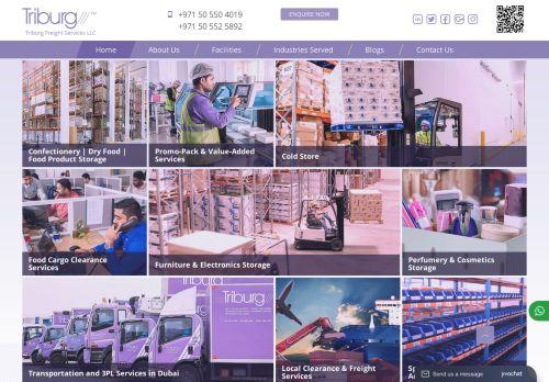 لقطة شاشة لموقع Triburg لخدمات الشحن ونقل البضائع بتاريخ 30/11/2020 بواسطة دليل مواقع الدليل السهل