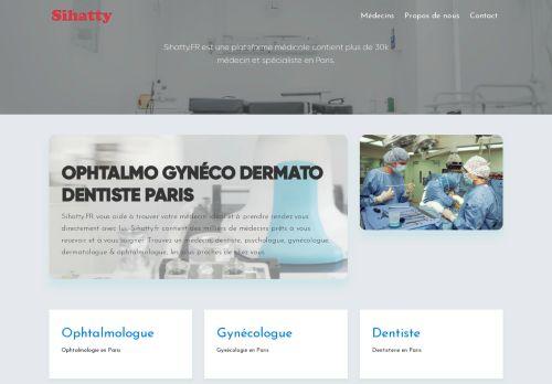 لقطة شاشة لموقع أطباء فرنسا بتاريخ 19/01/2021 بواسطة دليل مواقع الدليل السهل