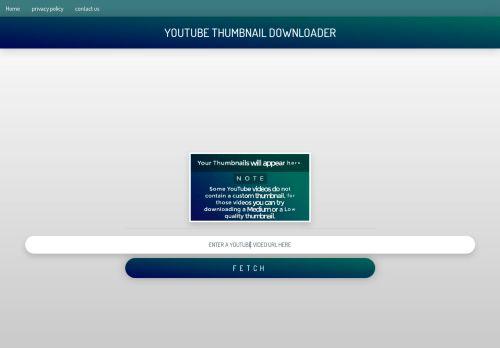 لقطة شاشة لموقع YOUTUBE THUMBNAIL DOWNLOADER بتاريخ 15/02/2021 بواسطة دليل مواقع الدليل السهل